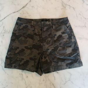 High rise Jcrew camo shorts